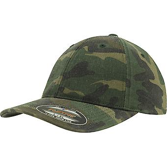 Flexfit by Yupoong Mens Soft Buckram Washed Camo Garment Cap