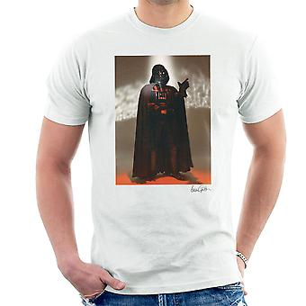 Star Wars Behind The Scenes Darth Vader White Men's T-Shirt