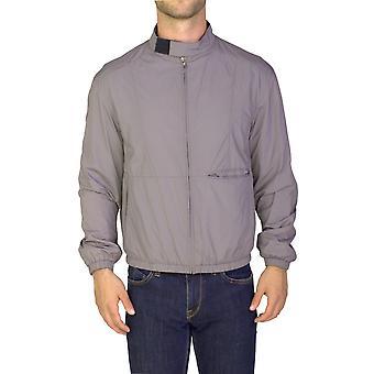 Nylon poliester Cazadora Zip-up chaqueta gris Prada hombres