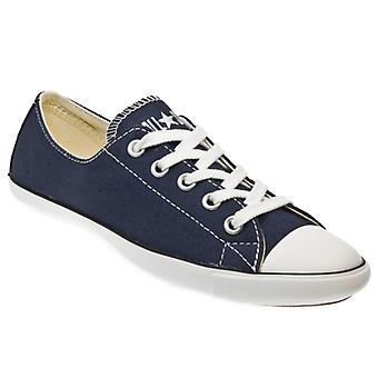 Converse AS Slim Ox Women Navy Blue and White Canvas Trainers