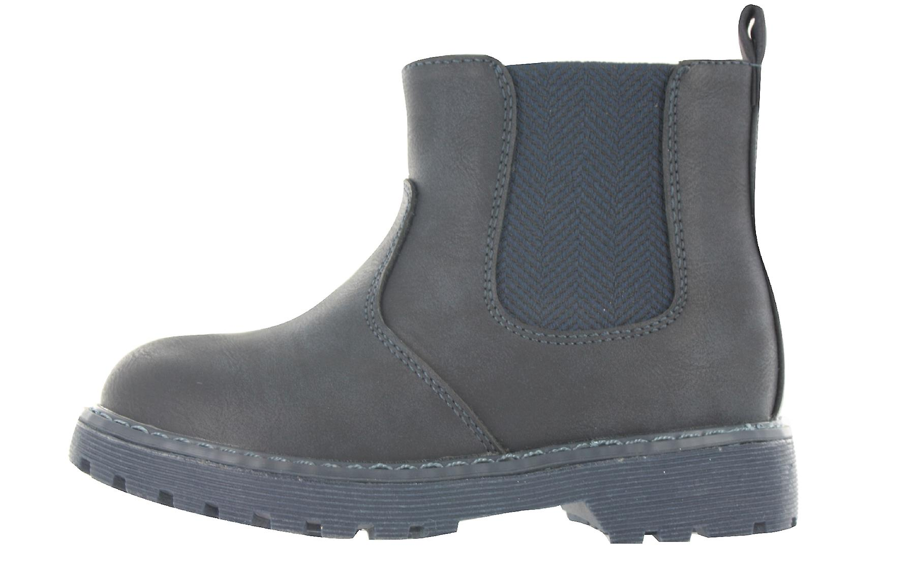 Boys Buckle My Shoe Black Ankle Boots Back to School Easy Fit Various Sizes