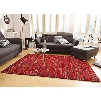 Design rug-shaggy chic mix Red