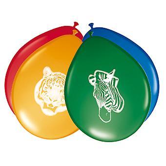 Ballons Luftballon Balloon Safari Kinderparty Geburtstag 8 Stück