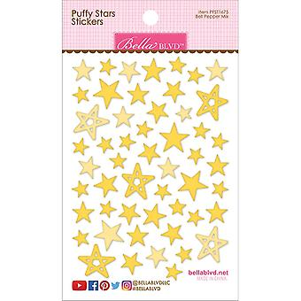 Puffy Star Stickers-Bell Pepper Mix