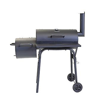 Charles Bentley Medium Charcoal 61x31cm BBQ with Offset Smoker