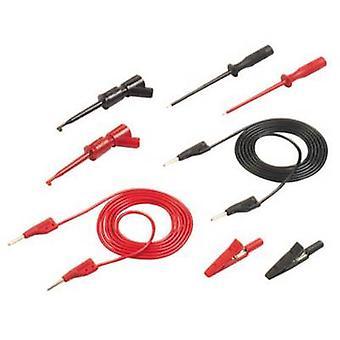 SKS Hirschmann PMS 2 sonde kit [fiche 2 mm - 2 mm plug] 1 m noir, rouge