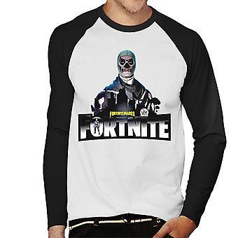 Fortnite Nitemare Skin Skeleton Men's Baseball Long Sleeved T-Shirt
