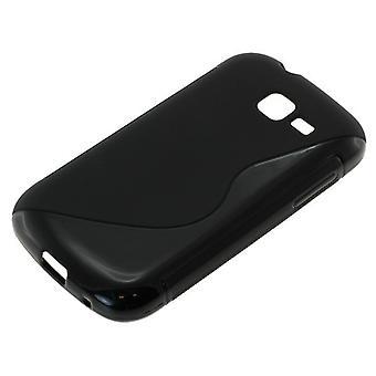 TPU case kompatibel med Samsung Galaxy trend Lite S7390 S-kurva svart