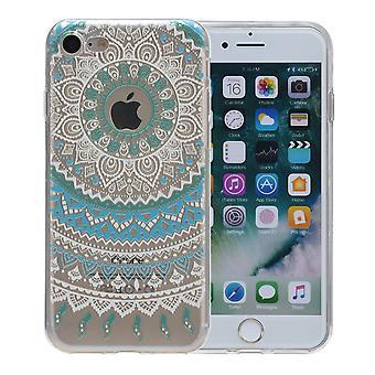Henna dekking voor Apple iPhone 5 / 5 s / SE zaak beschermende kaft siliconen zon blauw