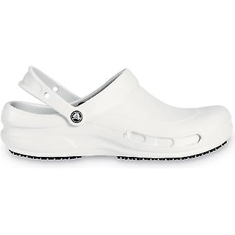 Crocs Ladies Crocs Bistro Slip On Breathable Croslite Work Clog White