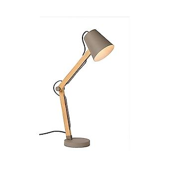 Lucide TONY eccentrico tortora naturale materiale Desk Lamp