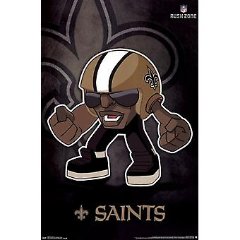 New Orleans Saints - Rusher 13 Poster Print