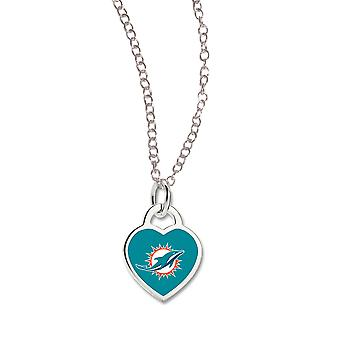 Wincraft ladies Heart Necklace - NFL Miami Dolphins