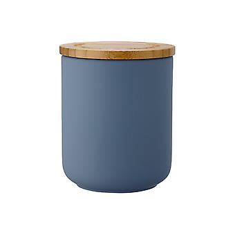 Ladelle Stak Soft Matt Dusky Blue Canister, 13cm