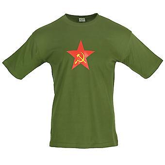 New Combat Russian USSR Star Printed T-shirt
