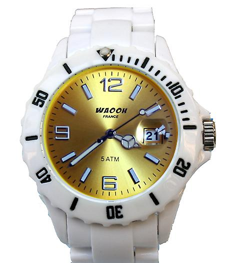 Waooh - MILANO 38 Bracelet Watch White Dial Color