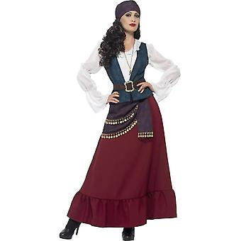 Deluxe Pirate Buccaneer Beauty Costume, Small