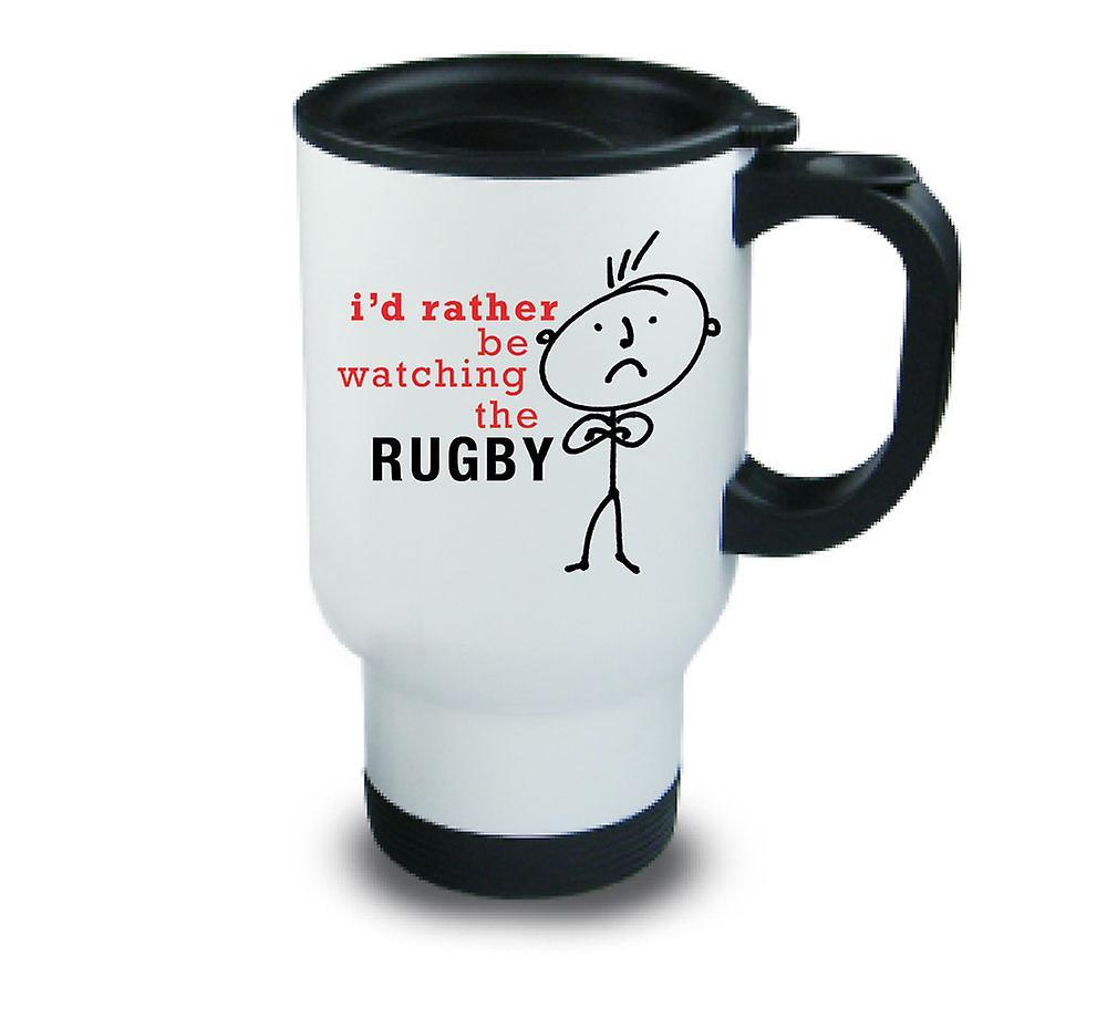 La Mens Observerait Rugby J'ai Plutôt En Du Tasse Métal HW2IbeED9Y