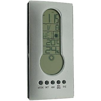 Bioterm Electronic Clock, Calendar, Alarm & Snooze, Weather Forecast Station