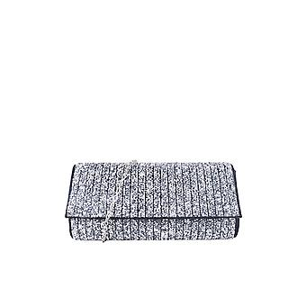 Lovemystyle Schwarz Glitter Seitentasche mit Silber Metallband