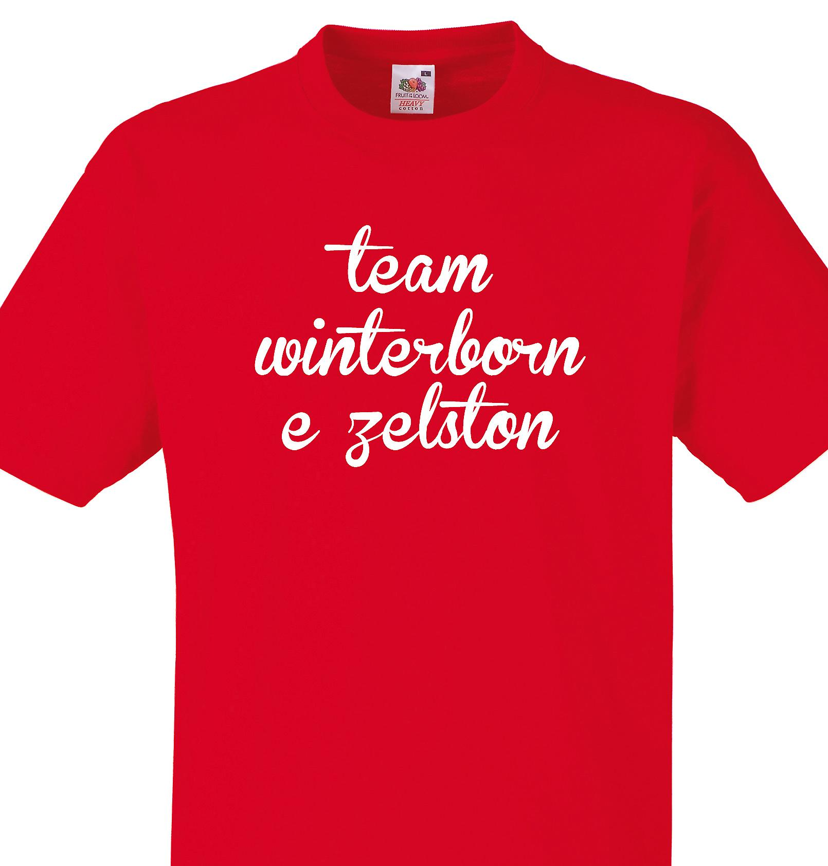 Team Winterborne zelston Red T shirt