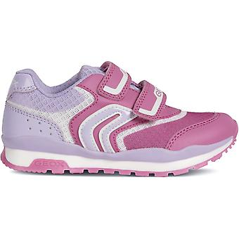 Geox Girls Pavel J928CA Trainers Pink Lillac