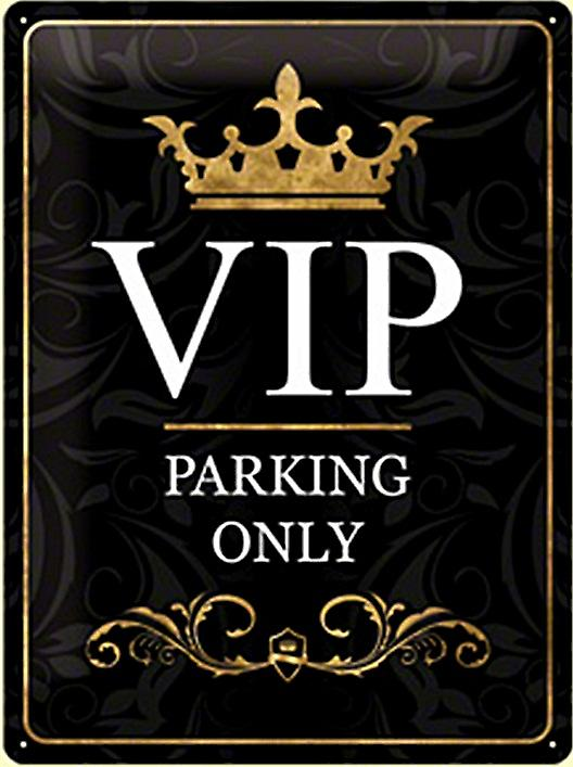 VIP Parking Only embossed large metal sign  (na 4030)