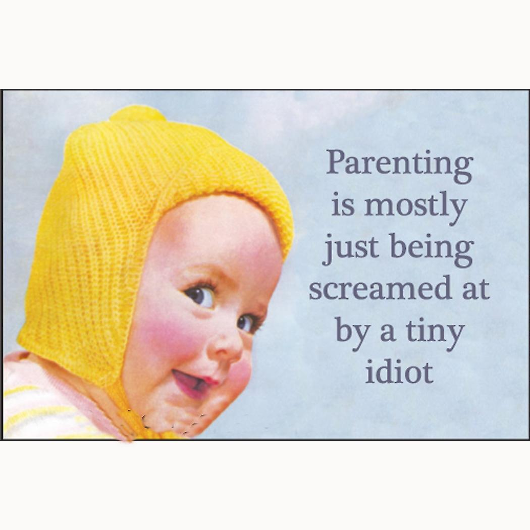 Parenting Is Mostly Just Being Screamed At... funny fridge magnet   (ep)