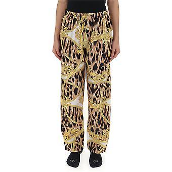 Versace Leopard Seidenhose