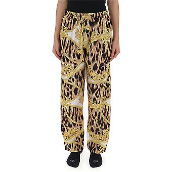 Versace Leopard silke bukser