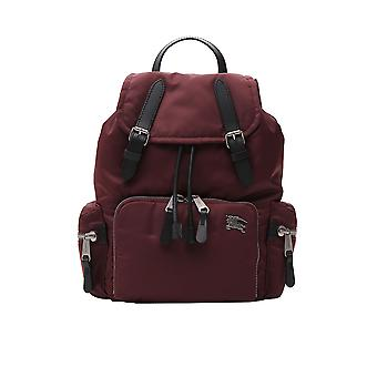 Burberry Burgundy Nylon Backpack