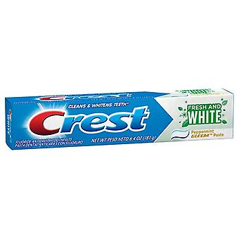 Crest fresh and white toothpaste, peppermint gleem, 6.4 oz