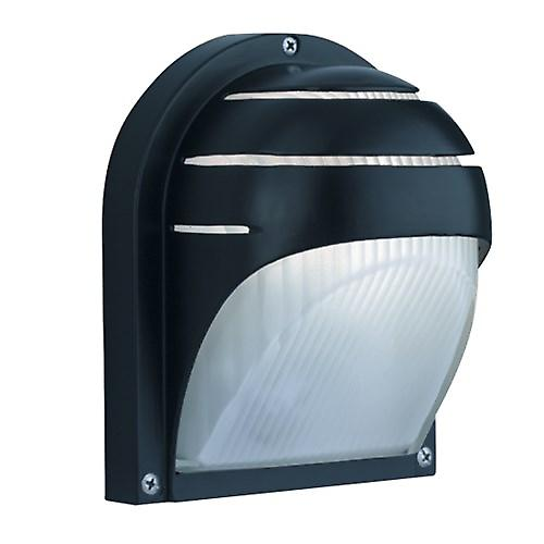 Searchlight 1106BK Modern Outdoor Black Cast Aluminium Exterior Wall Light