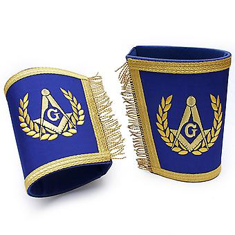 Masonic Gauntlets Cuffs - Embroidered With Fringe