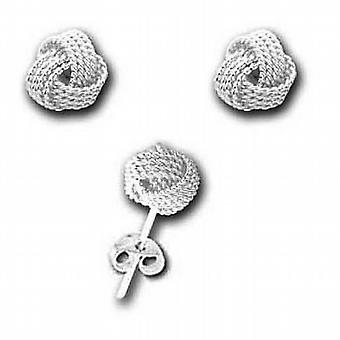The Olivia Collection Sterling Silver Rope Knot 9mm Stud Earrings
