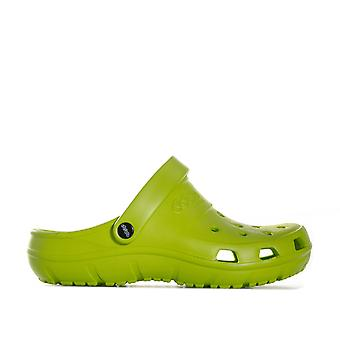 Children Boys Crocs Presley Beach Shoes In Green- Slip On Design