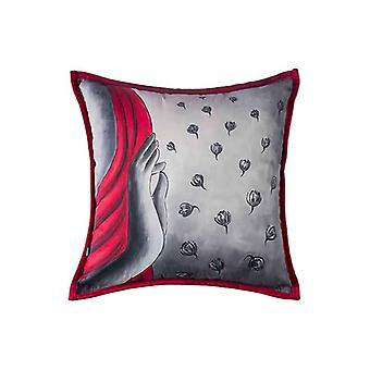 Boho Handpainted Meditation Throw Pillow Cover