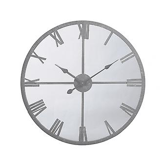 Mainra Furniture Industrial Style Mirrored Wall Clock With Grey Frame Libra Furniture Industrial Style Mirrored Wall Clock With Grey Frame Libra Furniture Industrial Style Mirrored Wall Clock With Grey Frame Libra
