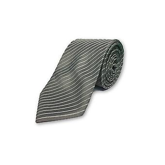 Strellson tie in grey and white st