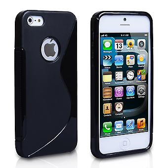 iPhone 5 and 5s Black S-Line Gel Case