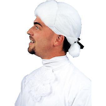 植民地人の衣装の白のかつら