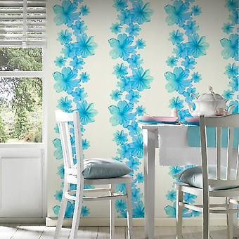 A.S. Creation AS opprettelse blomst blomst mønster bakgrunn botanisk floral stripe teksturert 342725