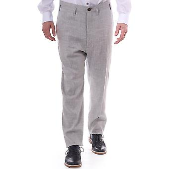 Vivienne Westwood Mens Mens Linen Slim Fit Trousers