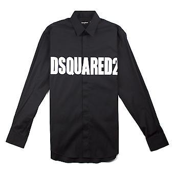 Dsquared2 Logo Camicia Nero
