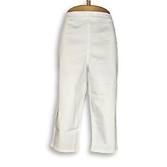 Susan Graver Femmes-apos;s Pantalon Stretch Pull-On Pédale Pushers Blanc A304403