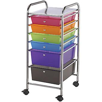 Storage Cart with 6 Drawers 13
