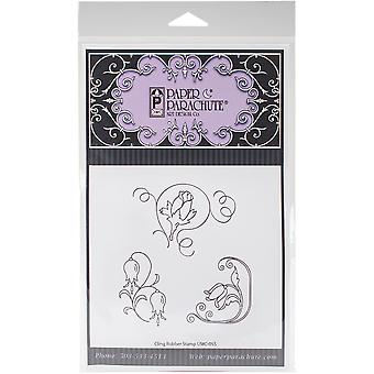 Paper Parachute Cling Rubber Stamps 5.75