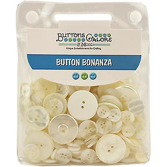 Button Bonanza .5lb Assorted Buttons-Ivory BB-18