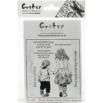 Crafty Individuals Unmounted Rubber Stamp 3.5