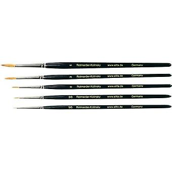 Elita Rotmarder-Kolinsky Artist brush, 5 pieces Elita 51170
